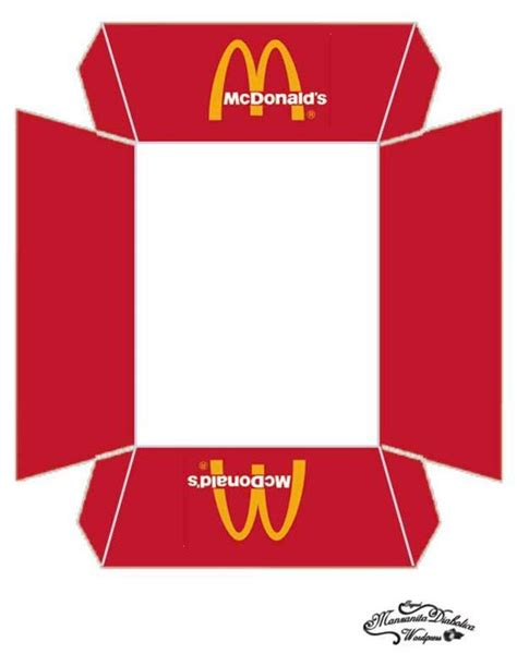 burger box template pdf bandeja de imprimibles mcdonalds