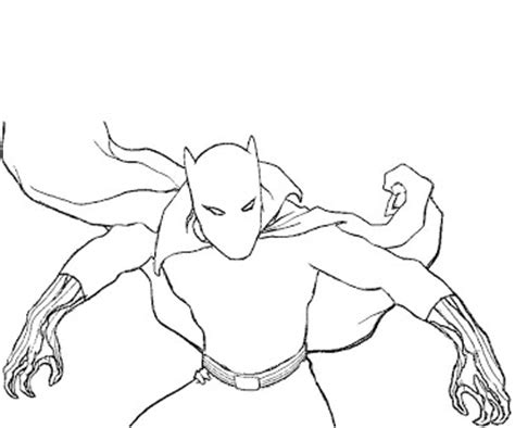 coloring black panther marvel coloring pages