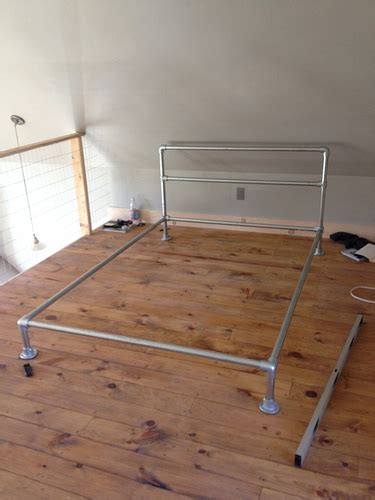 aluminum bed frame how to build a pipe bed frame