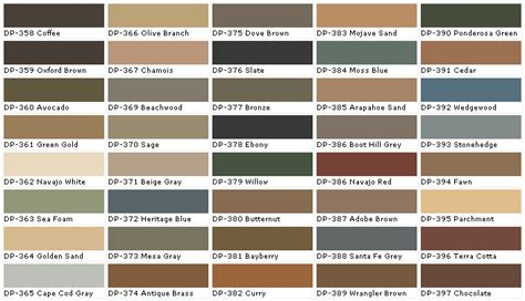 behr deck color chart behr interior paint chart chip sle swatch palette