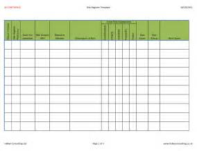 risk register template excel risk register template lisamaurodesign