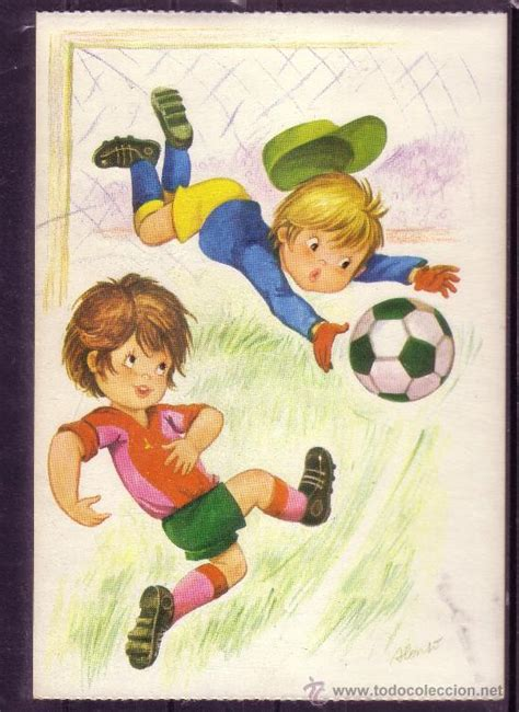 imagenes infantiles niños jugando futbol preciosa postal de dibujos de ni 241 os jugando al comprar