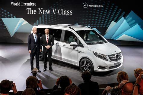 luxury minivan 2015 new mercedes benz v class adds some class to minivan