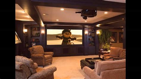 basement home theater design  decorations youtube