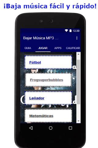 descargar msica fcil mp3 gratis bajar musica mp3 gratis facil y rapido guia android apps
