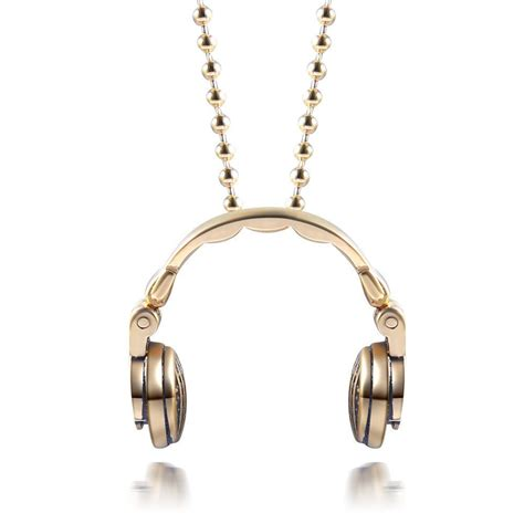 Earbuds As Jewelry by Dj Headphones Pendant Necklace Dj Headphones Headphones