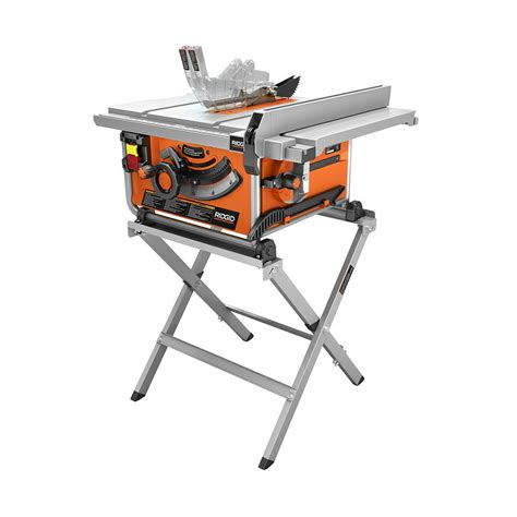 ridgid 15 10 in compact table saw with folding x