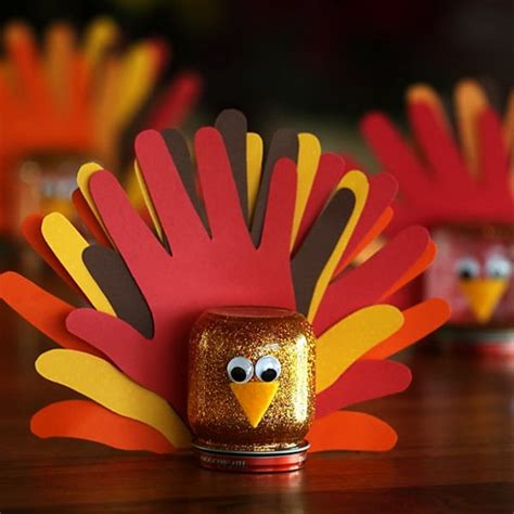 cool thanksgiving crafts for marked glitter turkey best easy thanksgiving cool