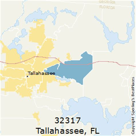zip code map tallahassee best places to live in tallahassee zip 32317 florida