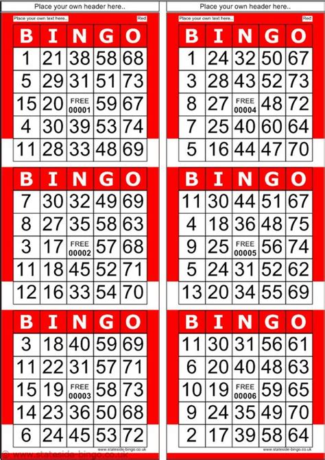 what size are number cards bingo patterns printable red bingo cards with normal