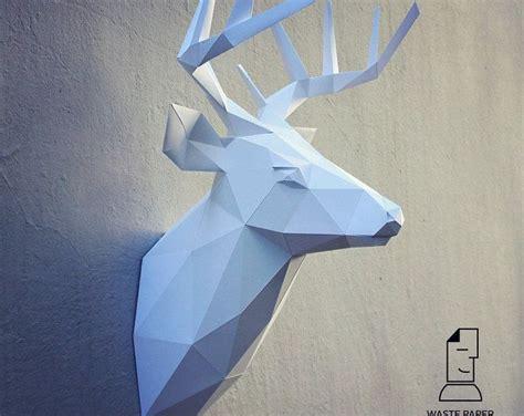 Comment Faire Un Cerf En Origami by 1000 Id 233 Es Sur Le Th 232 Me Tete De Cerf Origami Sur