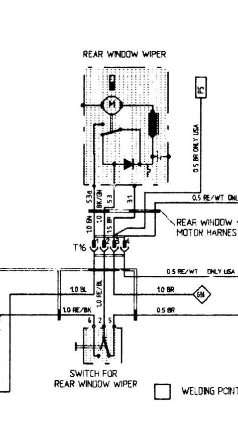 951 rear wiper wiring diagram rennlist porsche