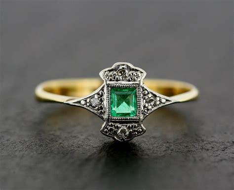 deco emerald ring antique deco emerald