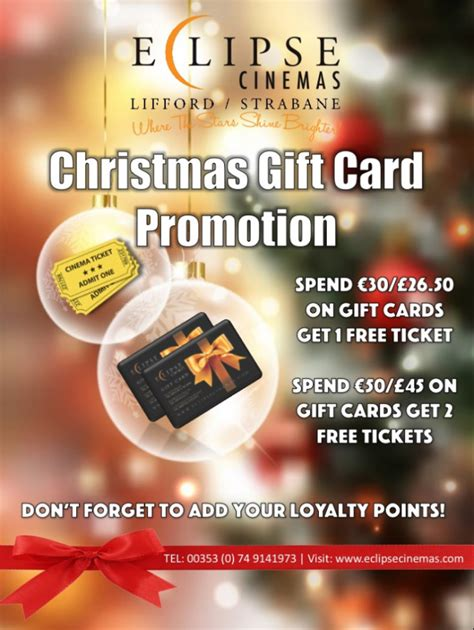 Christmas Gift Card Promotions - christmas gift card promotion at eclipse cinemas the strabane chronicle