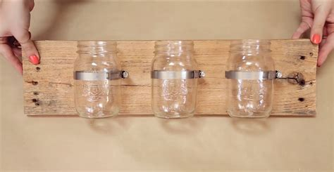 and craft decorations diy jar wall organizer diy