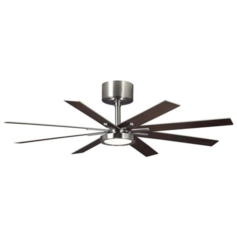 monte carlo turbine ceiling fan review monte carlo empire 60 in led indoor brushed steel ceiling