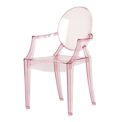 Philippe Starck Ghost Chair by Lou Lou Ghost Chair Baby Pink Philippe Starck Kartell