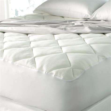spa luxe cool touch bamboo top soft mattress pad by