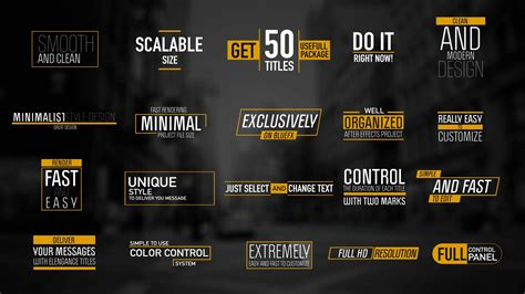 adobe after effects title templates 50 modern titles after effects template bluefx
