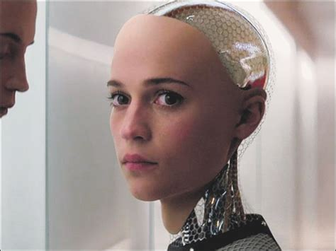 ex machina cast brainy ex machina asks cast audience to pass test