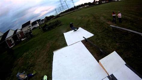 backyard snowboard r parx fall backyard snowboard debut youtube