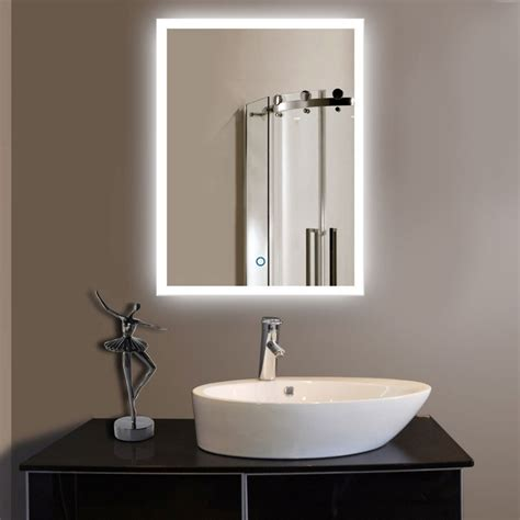 wall mounted bathroom mirror vertical led wall mounted lighted vanity bathroom silvered