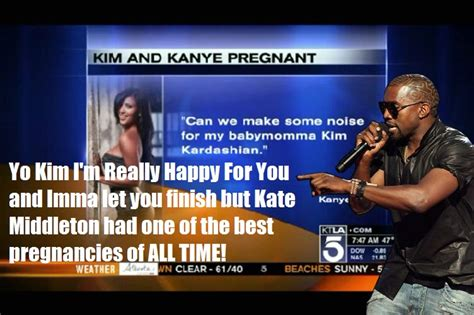 Kim Kardashian Pregnant Meme - kim kardashian pregnancy kanye interrupts imma let you
