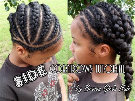Cornrow Hairstyles For Hair Tutorial by Side Cornrows Tutorial On Hair Brown