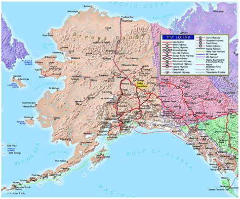 Map Alaska by Alaska Highway Project Jukebox