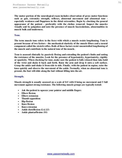 neuro motor strength neurological examination pdf manual