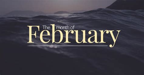 February ? Second Month of The Year