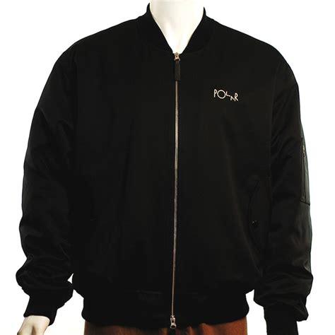 Jaket Bomber Trasher polar bomber jacket black forty two skateboard shop