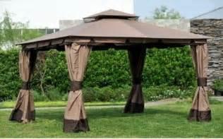 Big Lots Gazebo Canopy by Big Lots 10x12 Monterey Gazebo Deluxe Canopy Set