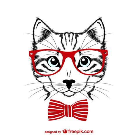 imagenes halloween vectorizadas ilustraci 243 n de gato hipster descargar vectores gratis
