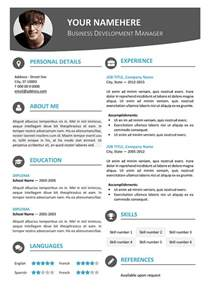 contemporary resume templates hongdae modern resume template