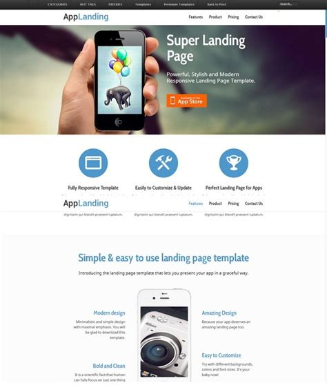 60 Free Responsive Html5 Css3 Website Templates Responsive Web App Template