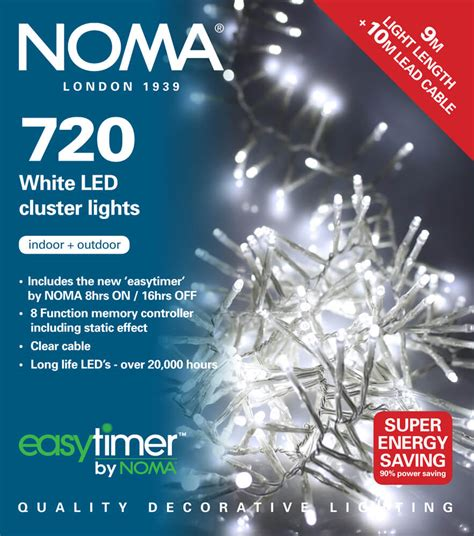 noma 720 led white multifunction cluster lights clear