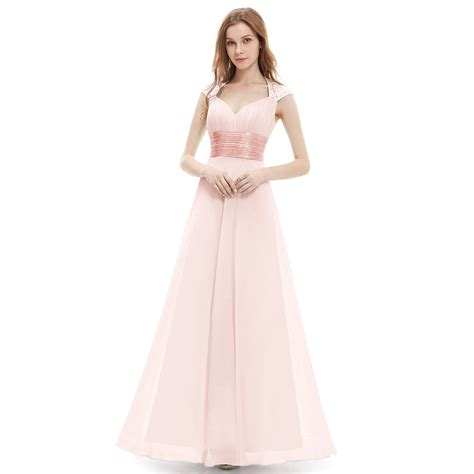 ever pretty long chiffon bridesmaid dress formal party