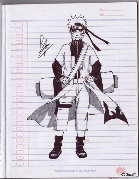 Tutorial Menggambar Naruto Sage Mode | tutorial menggambar manga untuk pemula dunia blanter