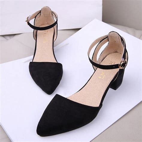 Ankle Pointed Heeled Sandals sandals ankle pointed toe pumps buckle block