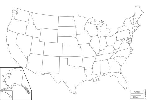 outline map of us with alaska and hawaii united states with alaska and hawaii free map free blank