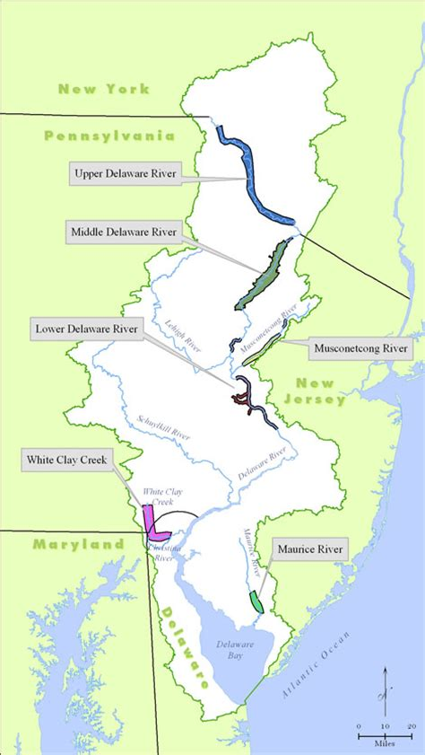 united states map delaware river delaware river basin commission national and scenic