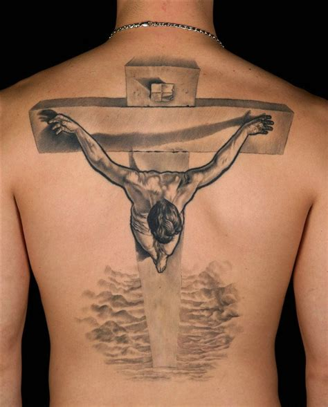 3d jesus tattoo jesus on cross 3d on back tattooshunt