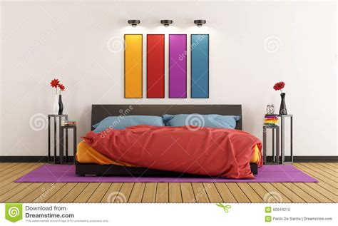 colorful bedroom furniture colorful bedroom stock illustration image 60944215