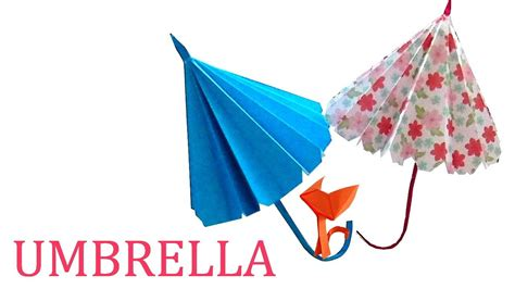 How To Make Paper Umbrella - how to make a paper umbrella origami umbrella for
