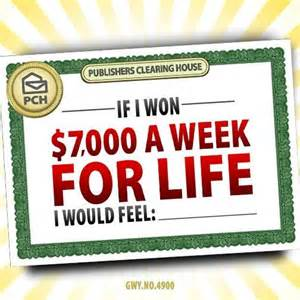 How To Win Pch 7000 A Week For Life - publishers clearing house win 7000 a week for life upcomingcarshq com