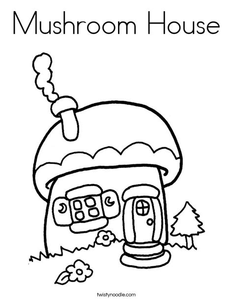mushroom house coloring page free smurfs mushrooms coloring pages