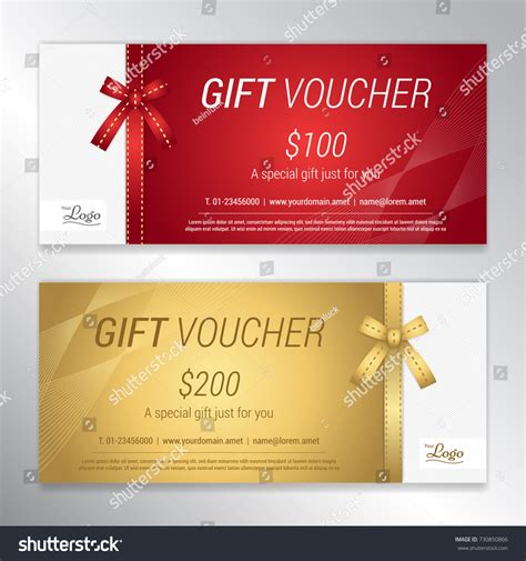 corporate gift card template complinments of gift voucher certificate discount card template stock