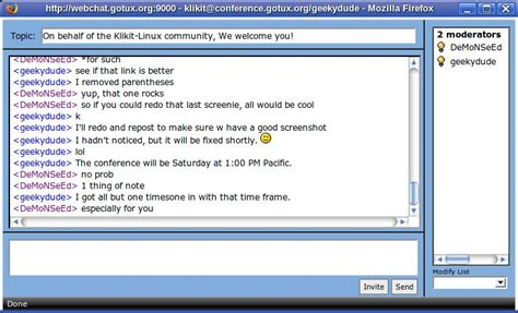 text based chat rooms klikit linux wiki klikit chat web based