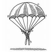 Paratrooper Landing Sign Parachute Illustrations &amp Vector Images